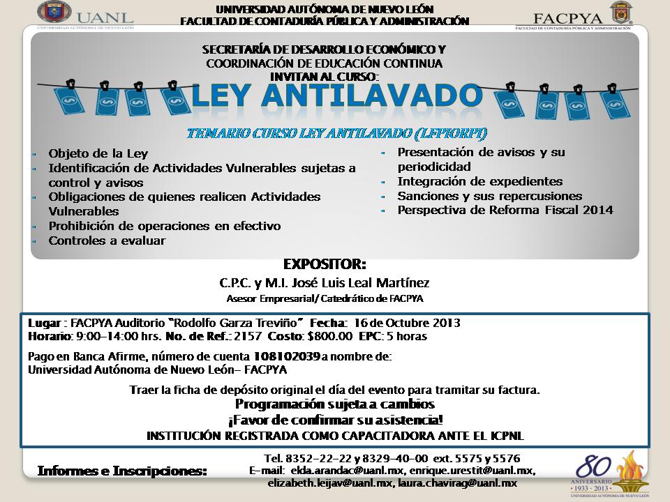 Ley antilavado FACPYA
