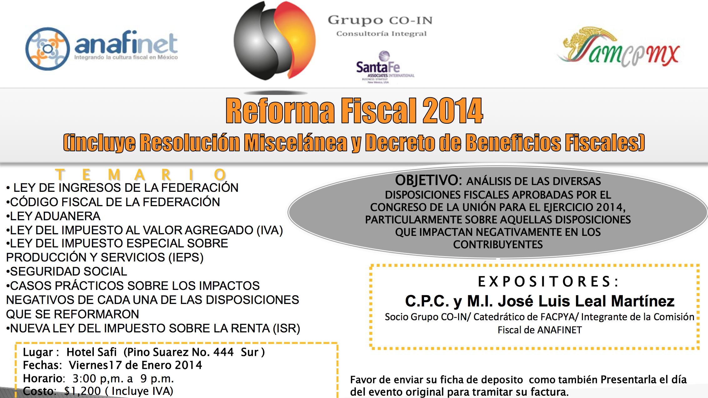 PROMO  Reforma fiscal 2014
